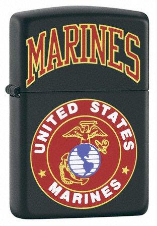 U.S. Marines Black Matte Zippo Lighter - ID# 218-539