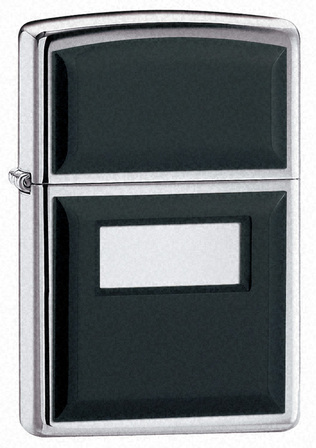 Ultralite Black Engraved Zippo Lighter - Free Engraving - ID# 355