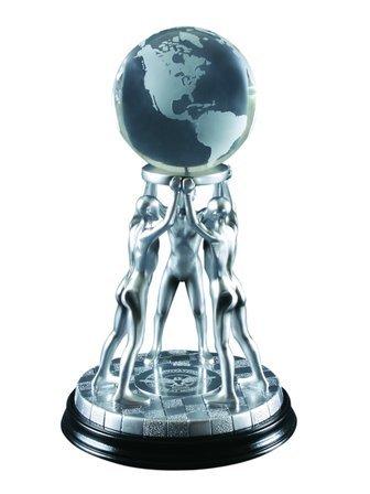 United Team Pewter Finish Resin Sculpture Award