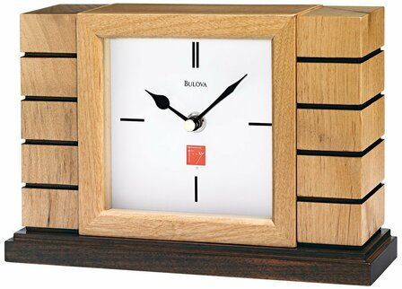 Usonian Mantel Clock By Bulova
