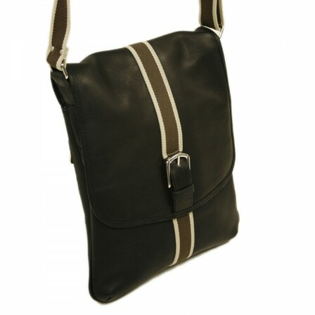 Vertical European Messenger Bag by Piel Leather - Free Personalization