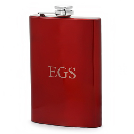 Personalized Red Flask