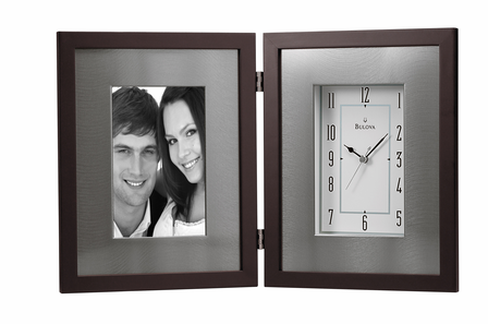Winfield Espresso Picture Frame Clock