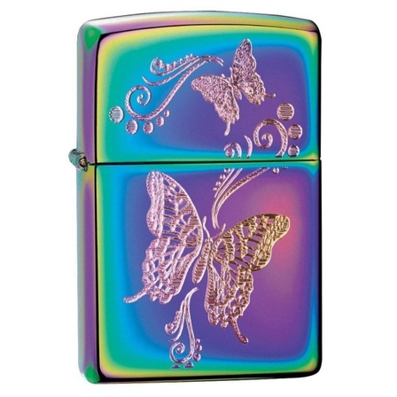 Wings of Destiny Spectrum Finish Zippo Lighter - ID# Z190