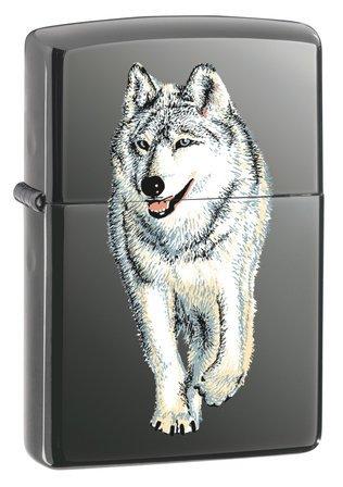 Wolf Black Ice Zippo Lighter - ID# 769