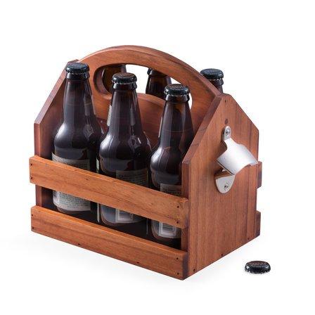 Wooden  Beer  &  Beverage  Caddy