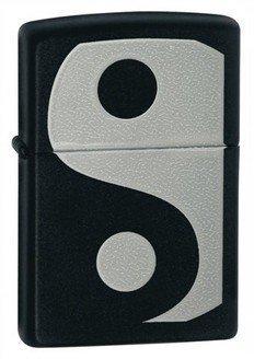 Yin & Yang Black Matte Zippo Lighter - ID# 24472