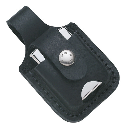 Zippo Lighter Pouch with Thumb Notch - Black