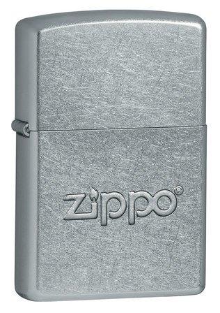 Zippo Stamped Street Chrome Zippo Lighter  - ID# 21193