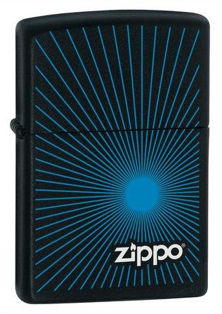 Zippo Starburst Blue Black Matte Zippo Lighter - ID# Z191