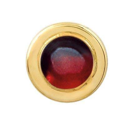 14 Karat Gold & Garnet Tie Tack