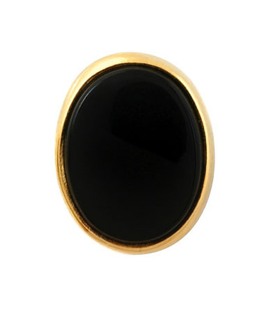 14 Karat Gold & Onyx Oval Shaped Tie Tack
