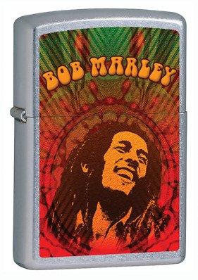 Bob Marley Street Chrome Zippo Lighter - ID# 24991