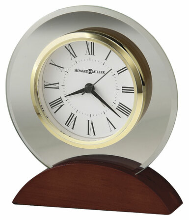 Dana Round Glass Alarm Clock by Howard Miller