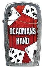 Deadman's Hand Vertical Chrome Zippo Blu Lighter - Discontinued