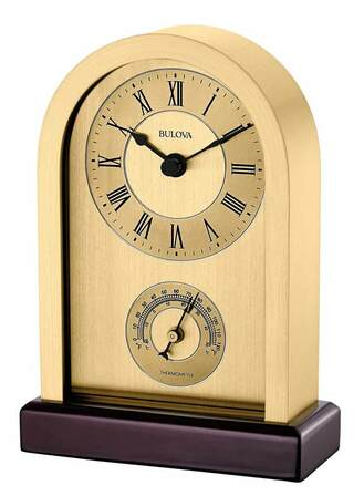 Harding Desktop Clock By Bulova