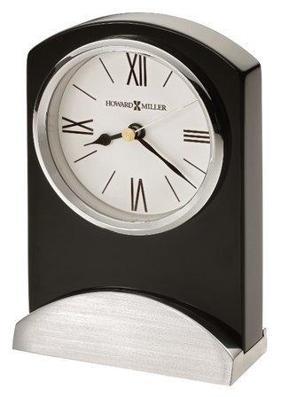 Karisma Piano Finish Black Table Clock by Howard Miller
