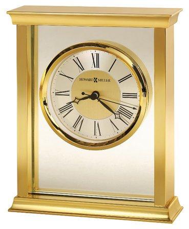 Monticello Brass Bracket  Table Clock by Howard Miller
