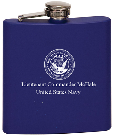 Personalized US Navy Blue Flask