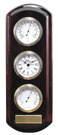 Personalized Rosewood Hanging Weather Station