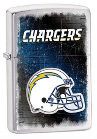 San Diego Chargers NFL Brushed Chrome Zippo Lighter - ID# 28591