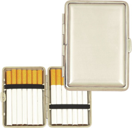 Satin Silver Cigarette Case/Card Holder