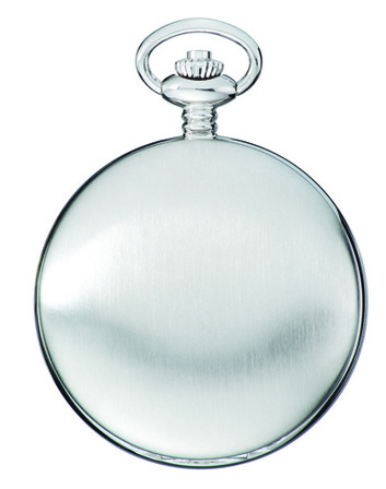 Satin Silver Charles Hubert Pocket Watch & Chain #3908-WRR