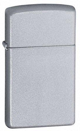 Slim Satin Chrome Personalized Zippo Lighter