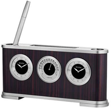 Woodside Executive Desk Clock By Bulova