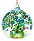 Solar Drop Hand-Blown Globe - Forest