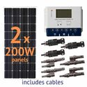 Grape Solar 400 Watt Off-Grid Solar Panel Kit