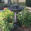Chatsworth 2 Tier Solar On Demand Fountain with Oiled Bronze Finish