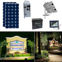 Earthtech Products Solar Sign & Landscape Light Kit - 1 Light (2250 Lumens), 2 - 100W Solar Panels, 140 Ah Battery