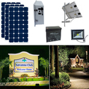 Earthtech Products Solar Sign & Landscape Light Kit - 1 Light (3950 Lumens), 3 - 100W Solar Panels, 140 Ah Battery