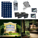 Earthtech Products Solar Sign & Landscape Light Kit - 2 Lights (3950 Lumens each), (2) 250W Solar Panels, (2) 234 Ah Batteries
