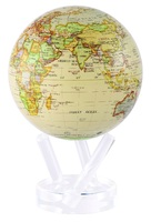 """6"""" Antique MOVA Globe with automatic rotation feature"""