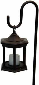 Solar Flickering Candle Lantern - Shepherd's Hook
