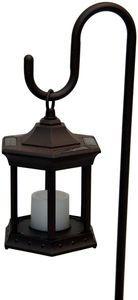 Solar Flickering Candle Lantern - Shepherds Hook