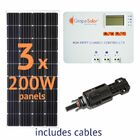 Grape Solar 600-Watt Off-Grid Solar Panel Kit - With MPPT Charge Controller