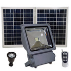 FL5W LED Solar Flood Light with Remote Control, SMD LED, Lithium Ion Battery and PIR Motion Features