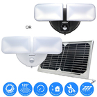 Solar Hybrid Twin Head LED Smart Motion Sensor Light