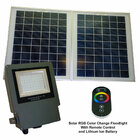 SGG-RGB-54-2R - Color Selectable LED Solar Flood Light with Remote Control