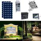 Earthtech Products Solar Sign & Landscape Light Kit - 1 Light (1662 Lumens), 2 - 100W Solar Panels, 100 Ah Battery