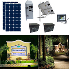 Earthtech Products Solar Sign & Landscape Light Kit - 1 Light (2250 Lumens), 2 - 100W Solar Panel, (2) 100 Ah Batteries