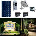 Earthtech Products Solar Sign & Landscape Light Kit - 1 Light (3950 Lumens), 250W Solar Panel, (2) 140 Ah Batteries