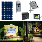 Earthtech Products Solar Sign & Landscape Light Kit - 1 Light (800 Lumens), 100W Solar Panel, 55 Ah Battery
