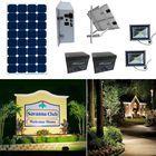 Earthtech Products Solar Sign & Landscape Light Kit - 2 Lights (1662 Lumens each), 250W Solar Panel, (2) 100 Ah Batteries