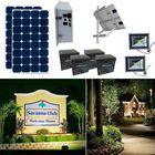 Earthtech Products Solar Sign & Landscape Light Kit - 2 Lights (3950 Lumens each), (2) 250W Solar Panels, (2) 234 Ah Batteries