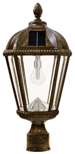 Royal Solar Lamp with GS-Solar LED Light Bulb with 3 Inch Fitter