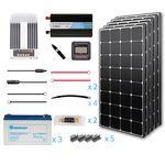 Renogy 500 Watt 12 Volt Premium Complete Solar Generator Kit